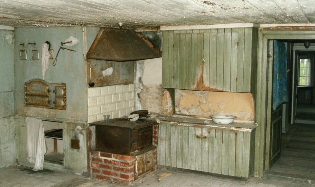 Interiör från gammalt kök i Tubbetorp