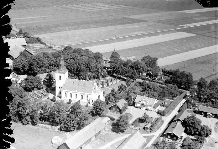 Flygfoto Stommen 1930-talet